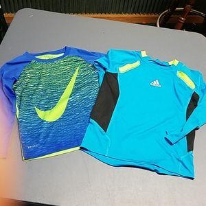 Boys shirts,Nike, Adidas, sz 6